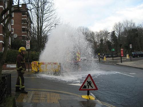 leaking hydrant
